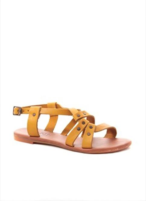Gio&Mi %100 Deri Sandalet Sarı